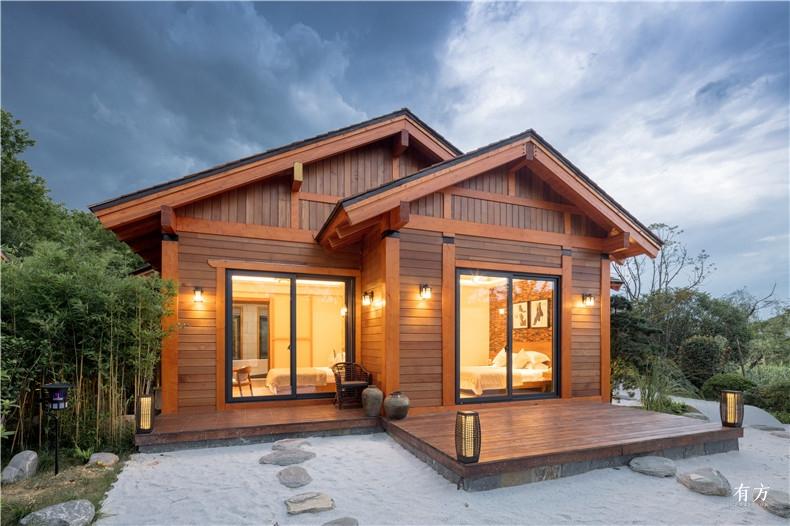 美式别墅使用了太平洋花旗松这是一种北美最大的树种