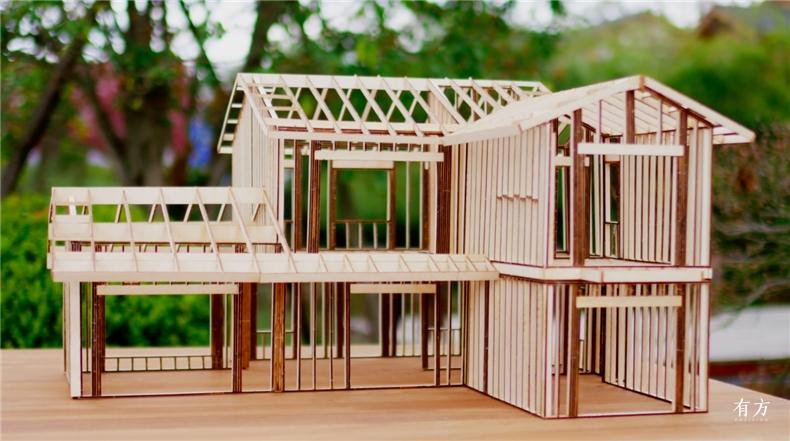 A户型中式别墅木结构模型 副本