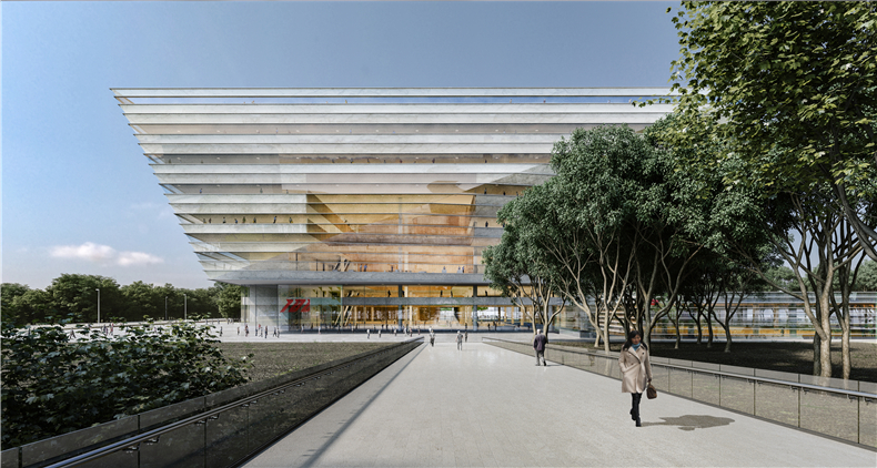 01 SHL Shanghai Library Exterior Day Image by SHL