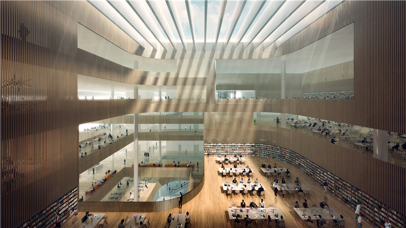 03 SHL Shanghai Library Interior A Image by DW